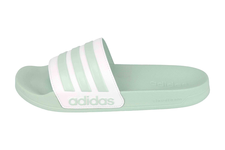 Adidas Adilette Shower Core FTW Slides Badesandalen in Übergrößen Grün EG1885 große Damenschuhe