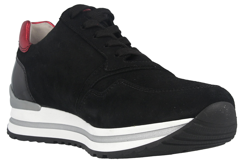 Gabor Comfort Basic Sneaker in Übergrößen Schwarz 46.528.67 große Damenschuhe