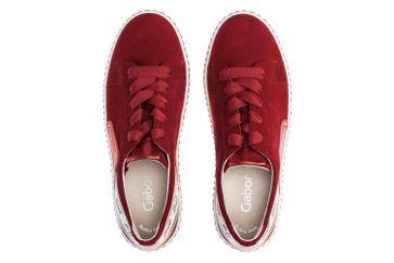 Gabor Jollys Sneaker in Übergrößen Rot 43.331.15 große Damenschuhe – Bild 7