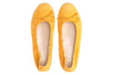 Gabor Casual Ballerinas in Übergrößen Gelb 44.120.12 große Damenschuhe – Bild 7