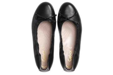 Gabor Casual Ballerinas in Übergrößen Schwarz 44.120.27 große Damenschuhe – Bild 7