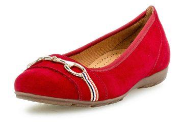 Gabor Casual Ballerinas in Übergrößen Rot 44.165.15 große Damenschuhe – Bild 6