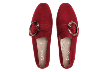 Gabor Casual Slipper in Übergrößen Rot 44.212.15 große Damenschuhe – Bild 7