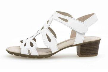 Gabor Casual Sandaletten in Übergrößen Weiß 44.561.21 große Damenschuhe – Bild 1