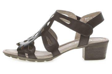 Gabor Casual Sandaletten in Übergrößen Schwarz 44.561.27 große Damenschuhe – Bild 1