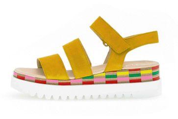 Gabor Casual Sandaletten in Übergrößen Gelb 44.660.13 große Damenschuhe – Bild 1