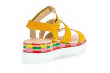 Gabor Casual Sandaletten in Übergrößen Gelb 44.660.13 große Damenschuhe – Bild 3
