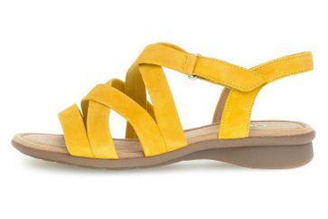 Gabor Comfort Basic Sandalen in Übergrößen Gelb 46.066.22 große Damenschuhe – Bild 1