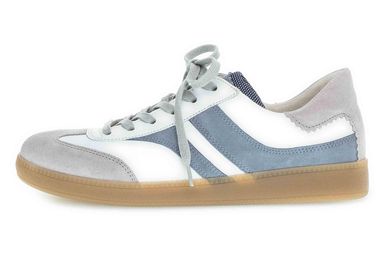 Gabor Comfort Basic Sneaker in Übergrößen Weiß 46.435.39 große Damenschuhe