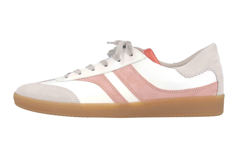 Gabor Comfort Basic Sneaker in Übergrößen Weiß 46.435.44 große Damenschuhe