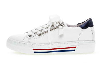 Gabor rollingsoft Sneaker in Übergrößen Weiß 46.465.50 große Damenschuhe – Bild 1
