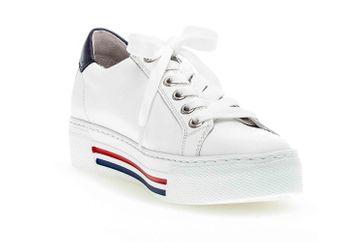 Gabor  Sneaker in Übergrößen Weiß 46.465.50 große Damenschuhe – Bild 4