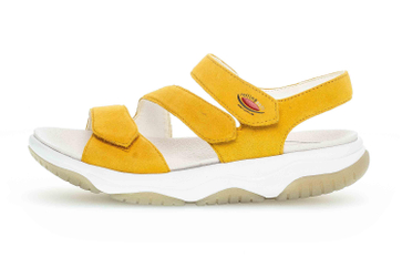Gabor rollingsoft Sandalen in Übergrößen Gelb 46.827.22 große Damenschuhe – Bild 1