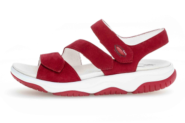 Gabor rollingsoft Sandalen in Übergrößen Rot 46.827.48 große Damenschuhe – Bild 1