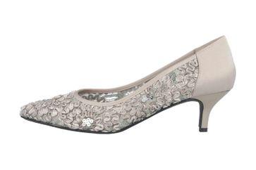 J.Reneé Ribbon Lace Pumps in Übergrößen Silber Daray Silver große Damenschuhe – Bild 1
