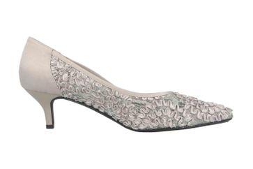 J.Reneé Ribbon Lace Pumps in Übergrößen Silber Daray Silver große Damenschuhe – Bild 4