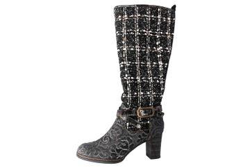 Spring Footwear TWEED Stiefel in Übergrößen Schwarz TWEED-BM große Damenschuhe – Bild 1
