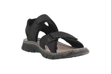 Rieker Sandalen in Übergrößen Grau 26761-00 große Herrenschuhe – Bild 5