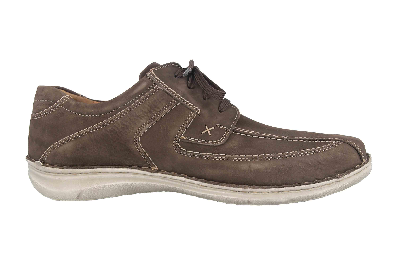 Josef Seibel Schuhe schwarz Nubuk Leder komfort Herren Schuhweite K