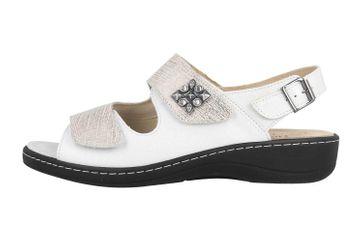 Hickersberger Milano Hallux Sandaletten in Übergrößen Weiß 6181-8102 große Damenschuhe – Bild 1
