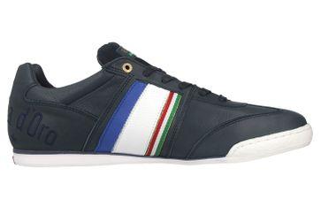 Pantofola d'Oro Imola Romagna Uomo Low Sneaker in Übergrößen Blau 10201040.29Y/10201068.29Y große Herrenschuhe – Bild 4