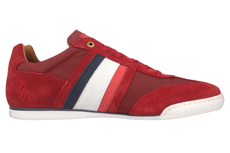 Pantofola d'Oro Imola Canvas Uomo Low Sneaker in Übergrößen Rot 10201042.90J/10201069.90J große Herrenschuhe – Bild 4