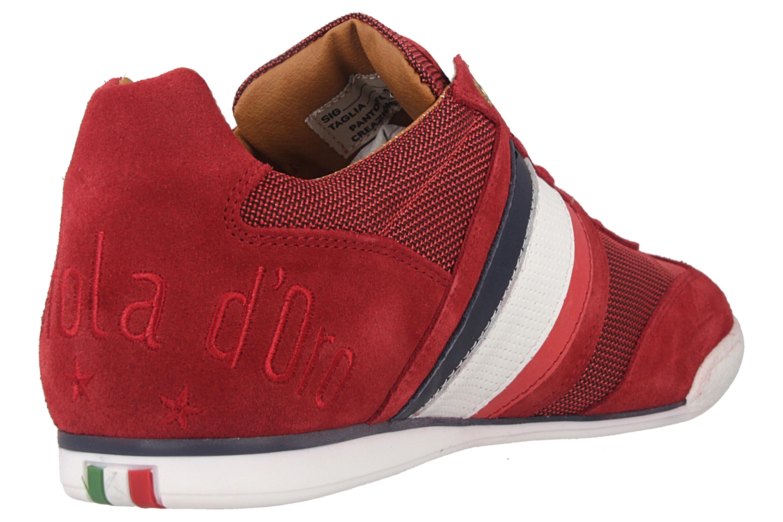 Pantofola d'Oro Imola Canvas Uomo Low Sneaker in Übergrößen Rot 10201042.90J/10201069.90J große Herrenschuhe – Bild 3