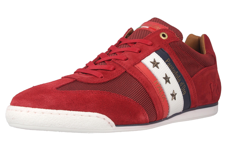 Pantofola d'Oro Imola Canvas Uomo Low Sneaker in Übergrößen Rot 10201042.90J/10201069.90J große Herrenschuhe – Bild 6