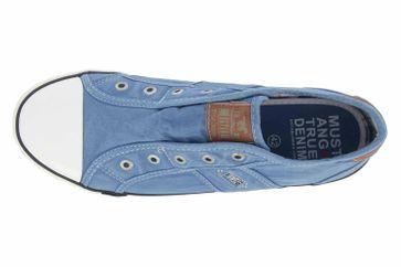 Mustang Shoes Slipper in Übergrößen Blau 1099-401-88 große Damenschuhe – Bild 7