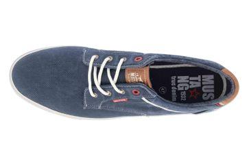 Mustang Shoes Halbschuhe in Übergrößen Blau 4147-303-820 große Herrenschuhe – Bild 7