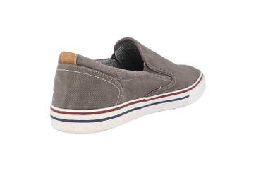 Mustang Shoes Slipper in Übergrößen Grau 4147-401-2 große Herrenschuhe – Bild 3