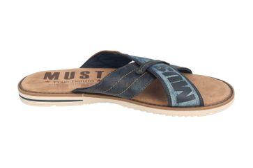 Mustang Shoes Pantoletten in Übergrößen Blau 4152-703-820 große Herrenschuhe – Bild 4