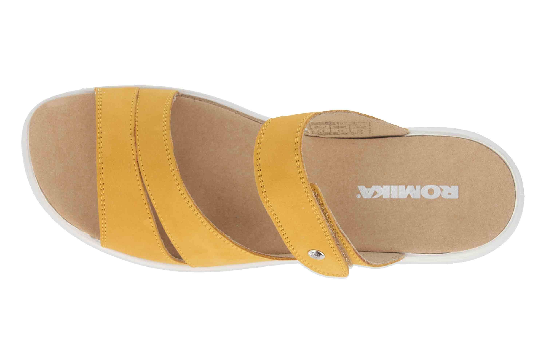 Romika Ibiza 110 Pantoletten in Übergrößen Gelb 16110 001 800 große Damenschuhe