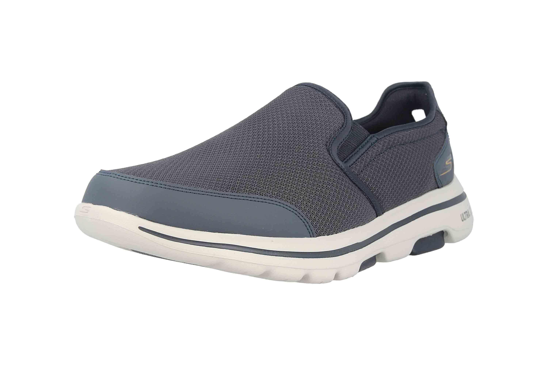 Skechers GO WALK 5 DELCO Slipper in Übergrößen Blau 216013 NVGY große Herrenschuhe