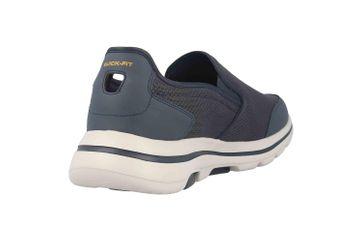 Skechers GO WALK 5 DELCO Slipper in Übergrößen Blau 216013 NVGY große Herrenschuhe – Bild 3