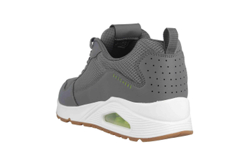 Skechers UNO FASTIME Sneaker in Übergrößen Grau 237016 CHAR große Herrenschuhe – Bild 2