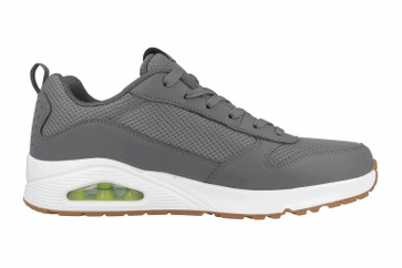 Skechers UNO FASTIME Sneaker in Übergrößen Grau 237016 CHAR große Herrenschuhe – Bild 4