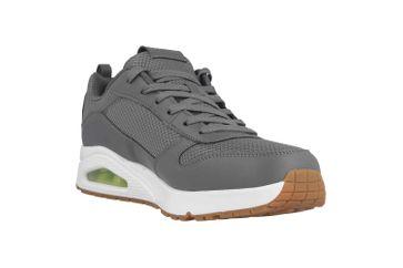 Skechers UNO FASTIME Sneaker in Übergrößen Grau 237016 CHAR große Herrenschuhe – Bild 5