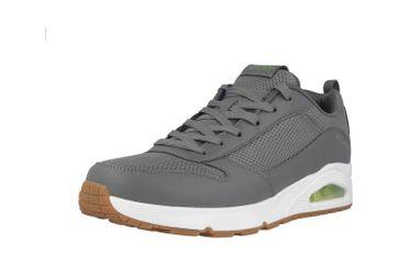 Skechers UNO FASTIME Sneaker in Übergrößen Grau 237016 CHAR große Herrenschuhe – Bild 6