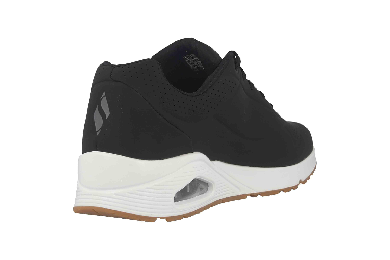 Skechers UNO STAND ON AIR Sneaker in Übergrößen Schwarz 52458 BLK große Herrenschuhe