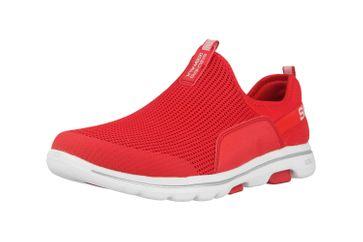 Skechers GO WALK 5 SOVEREIGN Slipper in Übergrößen Rot 124013 RED große Damenschuhe – Bild 6