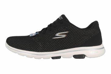 Skechers GO WALK 5 DEBUT Sneaker in Übergrößen Schwarz 124021 BKGD große Damenschuhe – Bild 1