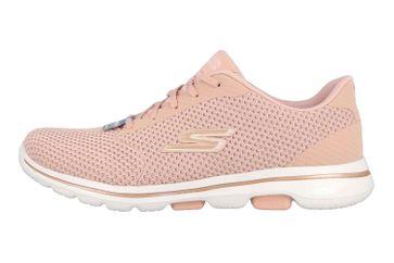 Skechers GO WALK 5 DEBUT Sneaker in Übergrößen Pink 124021 PKGD große Damenschuhe – Bild 1