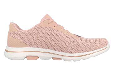 Skechers GO WALK 5 DEBUT Sneaker in Übergrößen Pink 124021 PKGD große Damenschuhe – Bild 4