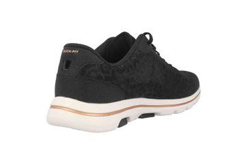 Skechers GO WALK 5 WILD Sneaker in Übergrößen Schwarz 124029 BKGD große Damenschuhe – Bild 3