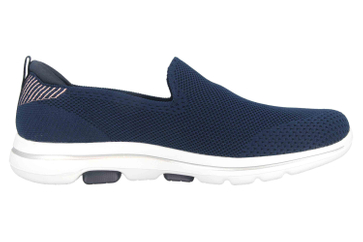 Skechers GO WALK 5 PRIZED Slipper in Übergrößen Blau 15900 NVY große Damenschuhe – Bild 4