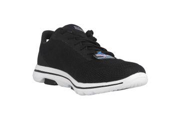 Skechers GO WALK 5 LUCKY Sneaker in Übergrößen Schwarz 15902 BKW große Damenschuhe – Bild 5