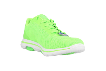Skechers GO WALK 5 LUCKY Sneaker in Übergrößen Grün 15902 LIME große Damenschuhe – Bild 5