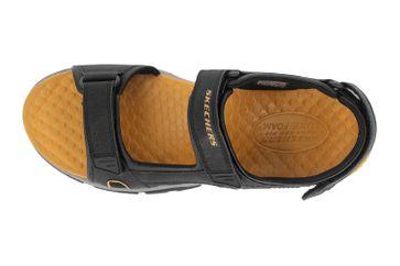 Skechers TRESMEN HIRANO Sandalen in Übergrößen Schwarz 204106 BLK große Herrenschuhe – Bild 7