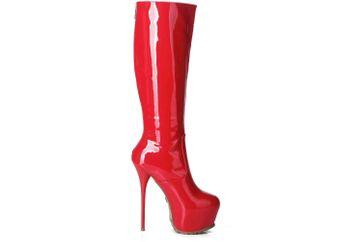 Giaro Stiefel in Übergrößen Rot Cameron Red Shiny große Damenschuhe – Bild 4